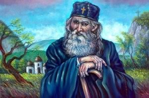 Ulje, Platno 'Monah iz Jasunjskog manastira' umetnik Tasic Z.Goran