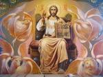 Iisus-Hristos-pe-tron-patru-evanghelisti